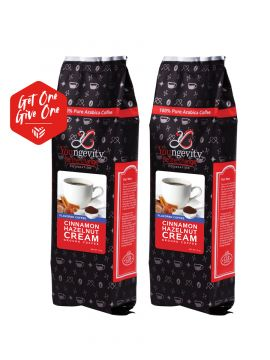 Be The Change Coffee - Cinnamon Hazelnut Cream - 12oz Ground [QTY: 2 | Get One, Give One FREE]