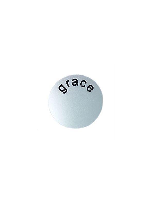 'Grace' Medium Silver Coin