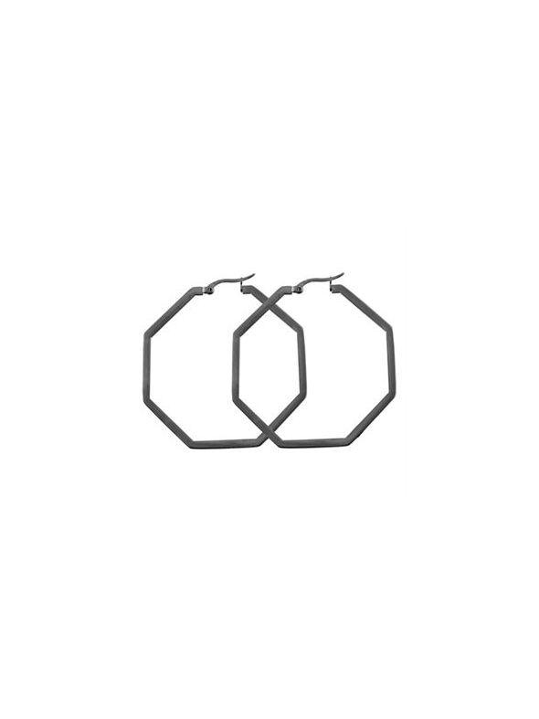 Graphite Octagonal Hoops