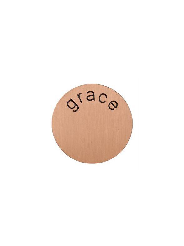 'Grace' Medium Rose Gold Coin