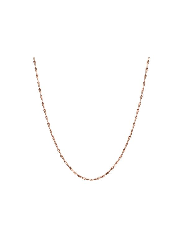 """Rose Gold Elongated Cable Chain - 28"""""""