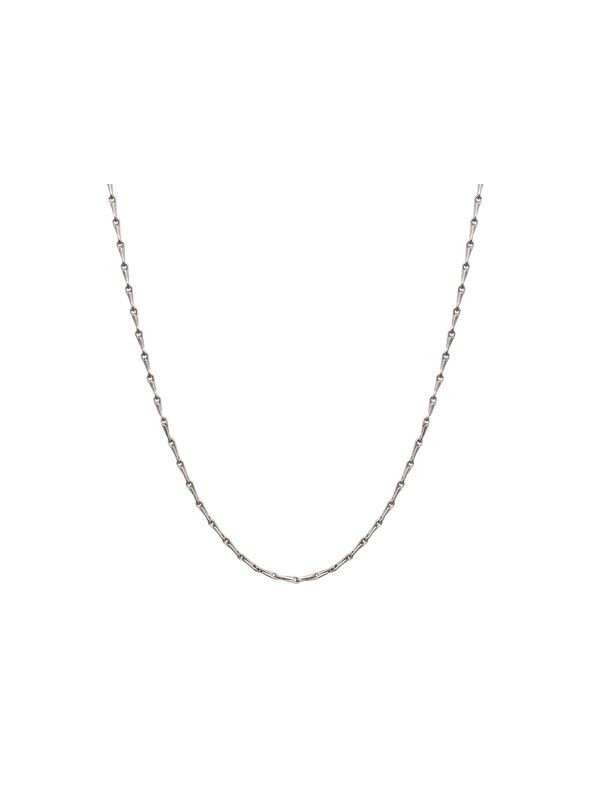 """Silver Elongated Cable Chain - 28"""""""