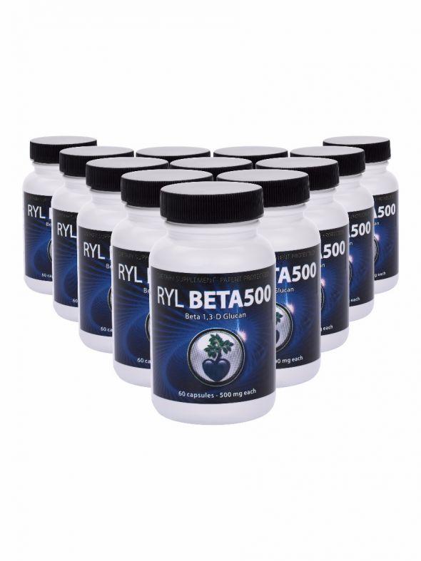 RYL Beta500 (Beta 1,3-D Glucan) - 12 Pack